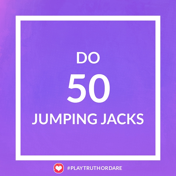 Do 50 jumping jacks
